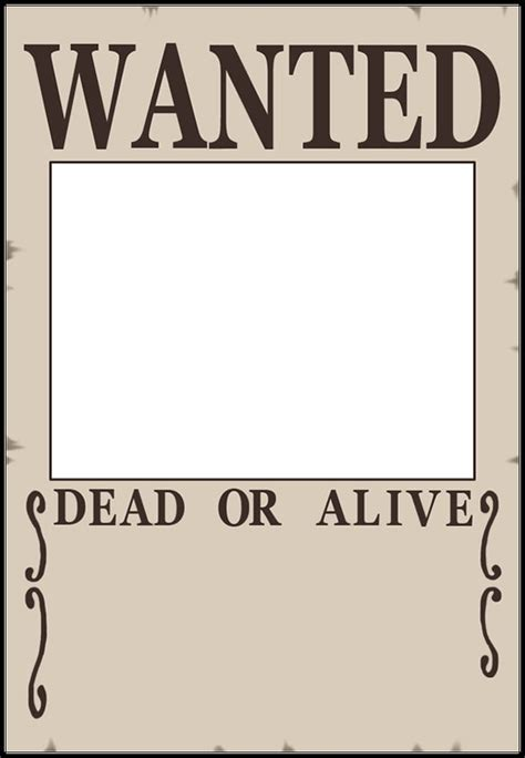 printable wanted poster template free blank wanted poster template the best letter sle