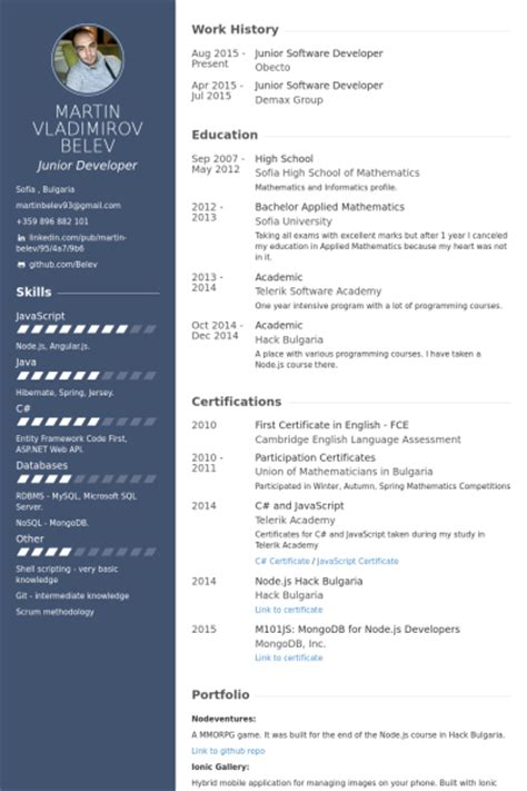 professional resume for senior software engineer wantfuriously cf