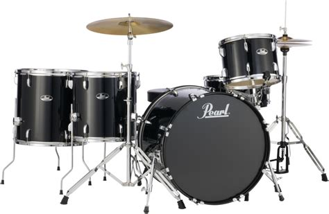 Pearl Roadshow Drum Set 4pcs pearl roadshow 5pc rock drum set with wuhan cymbals jet black sweetwater