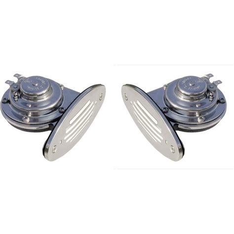 mini boat horn ongaro mini dual drop in horn 153392 boat electrical