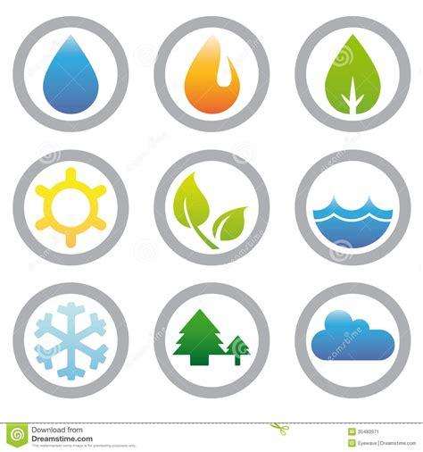 raccolta clipart raccolta di simboli di energia della natura e dell