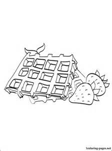 waffles coloring coloring pages