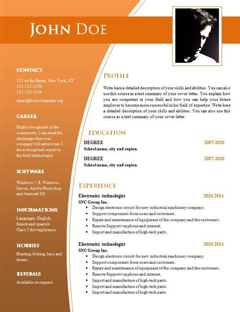 resume formats free professional template online samples for outline