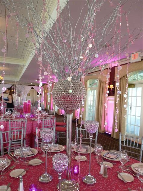 Hot Pink And Silver Wedding Decorations