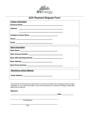 Payment Request Forms Fill Online Printable Fillable Blank Pdffiller Ach Vendor Payment Form Template