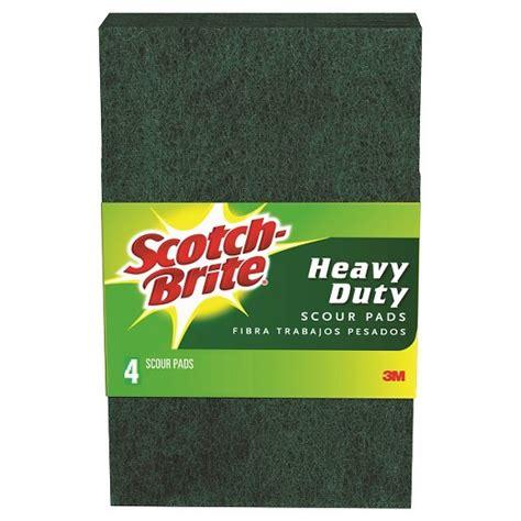 scotch brite scotch brite scour pads heavy duty 4 pack target