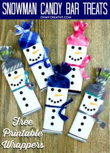 Free Wrapper Templates Printables by Snowman Free Printable Bar Wrapper Template Oh My