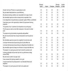 Free Sle Employee Satisfaction Survey Templates