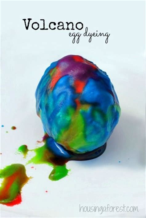 easter egg dye ideas volcanoes easter eggs and eggs on pinterest