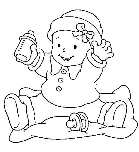 baby coloring page coloring baby learn to coloring