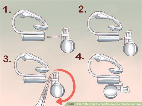Clip On Earrings Earrings 3 ways to convert pierced earrings to clip on earrings