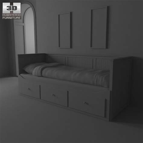 ikea hemnes bed 2 3d model humster3d ikea hemnes day bed 3d model game ready max obj 3ds