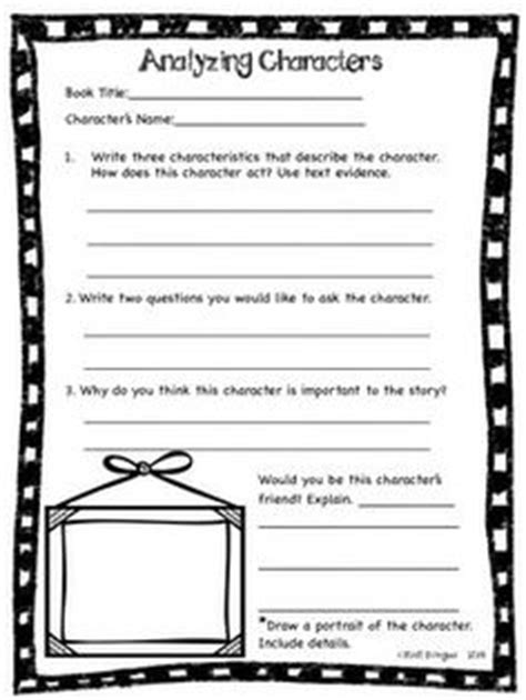 Character Traits Worksheet 3rd Grade by Book Report Template Grade 5