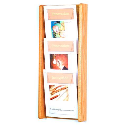 Magasine Rack by Wooden Magazine Rack 3 Pocket In Wall Magazine Racks