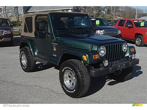 jeep dark green 2001 forest green jeep wrangler sahara 4x4 57788271