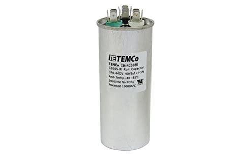 temco capacitor review temco dual run capacitor rc0108 40 5 mfd 370 v 440 v vac volt 40 5 uf ac electric motor hvac