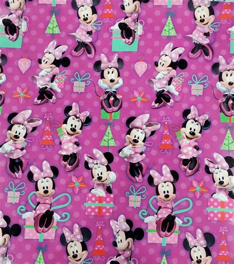 minnie mouse gift wrap disney s minnie mouse gift wrapping paper roll 40 square