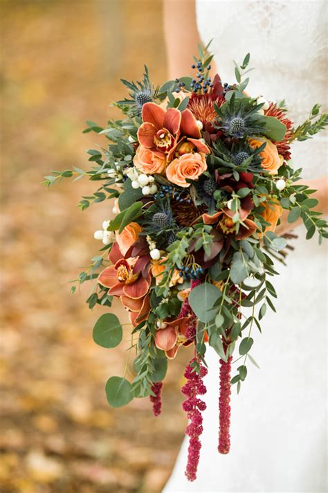 Fall Flower Picture Wedding by Fall Wedding Bouquet Peters Photography