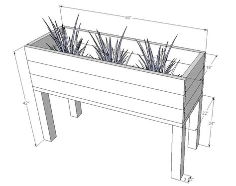 Planter Box Sizes by White Elevated Planter Box Diy Projects