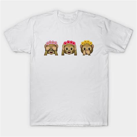 design emoji clothes emoji monkeys flower crown emoji t shirt teepublic