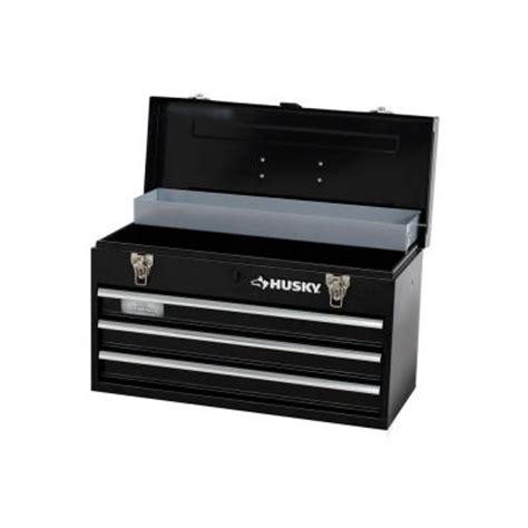 husky 3 drawer portable tool chest tray