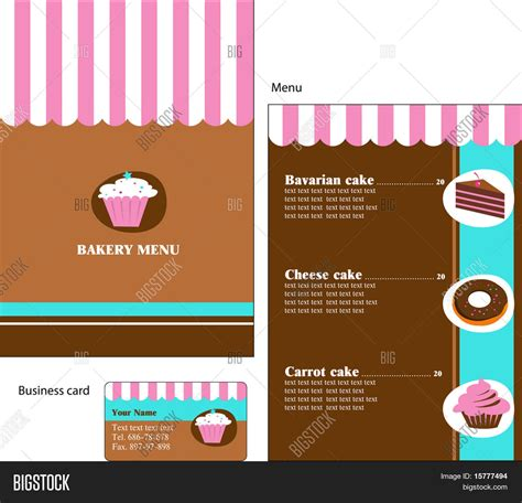 business card template for bakery template designs of menu and business card for cafe