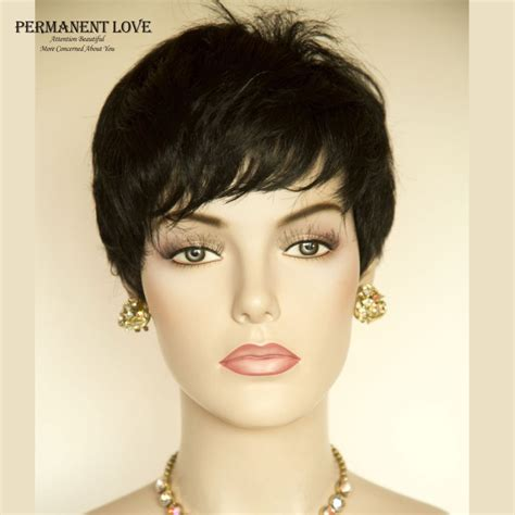 hairstyle with wigs with bangs for african women synthetic hair short wigs for black women female rihanna