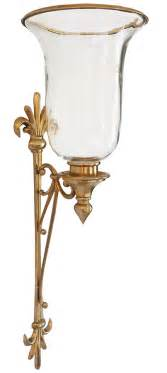 Candle Sconces Hurricane Sconce Brass Hurricane Candle Sconce
