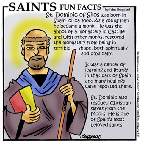 st facts for st dominic of silos saints catholic