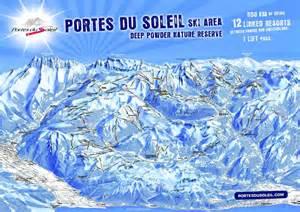 plans des pistes de ski portes du soleil morzine