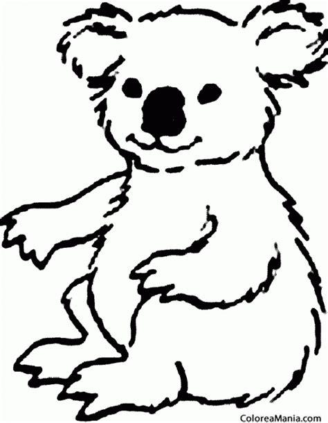dibujos para colorear koala colorear koala peludo animales del bosque dibujo para