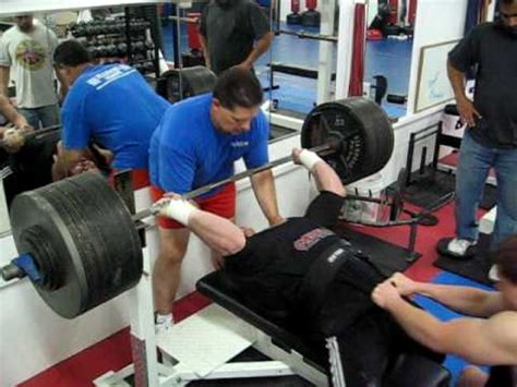 800 pound bench press matt minuth benching 900 to a half board funnycat tv
