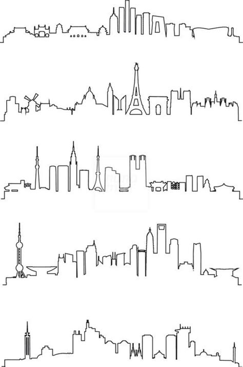 city line tattoo best 25 city skylines ideas on