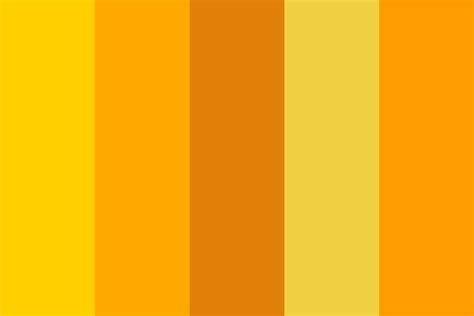 shades of yellow hex shades of orange color palette