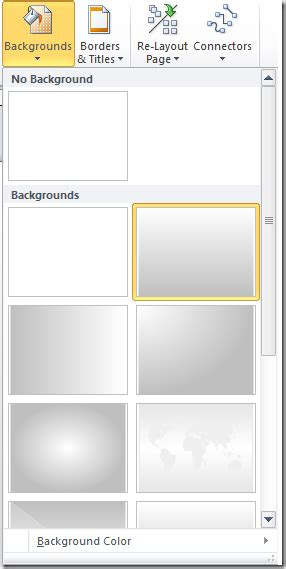 visio background templates applying a background or border design in visio 2010