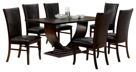 modern dining room sets 7 pieces 187 gallery dining 7 piece isabella collection espresso dining table set