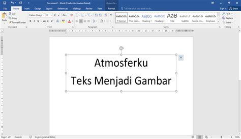 mengubah teks menjadi gambar  microsoft word