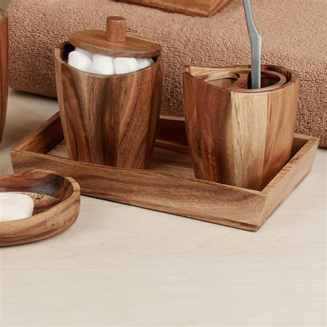 wooden bathroom accessories acacia handcrafted wood bath accessories