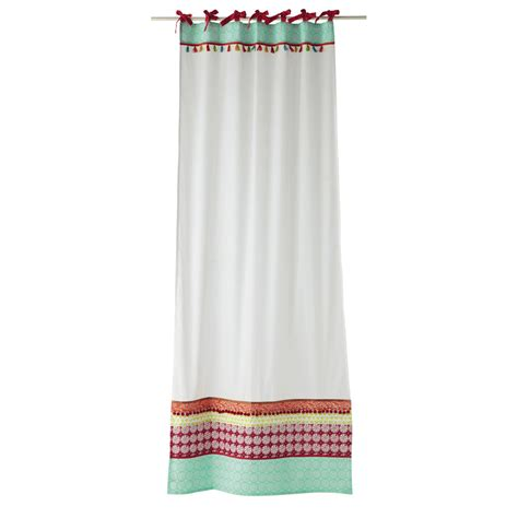 cotton tie top curtains pinkplanet cotton tie top curtain in white 110 x 250cm