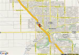 modesto california map map of travelodge modesto modesto