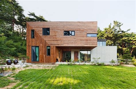 Bow Window Roof modern countryside residence in south korea living knot