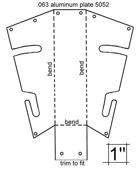 Sheet Metal Templates by Aluminum Sharktail Template