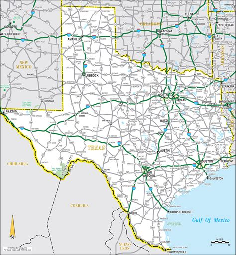 texa map road map mappery
