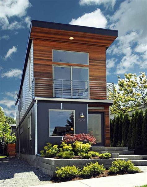 modern narrow house small contemporary house plans modern house plans floor