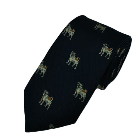 pug tie clip pug navy blue boys tie from ties planet uk