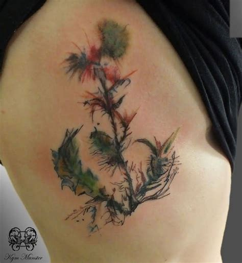 thistle tattoo 70 scottish tattoos and designs golfian