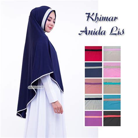 Jilbab Khimar Alia Non Pet Line khimar anida lis baju gamis terbaru