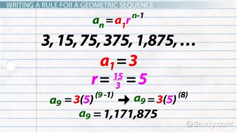 what does pattern rule mean geometric sequence formula exles video lesson