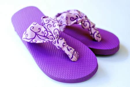 make flip flops more comfortable diy fabric flip flops