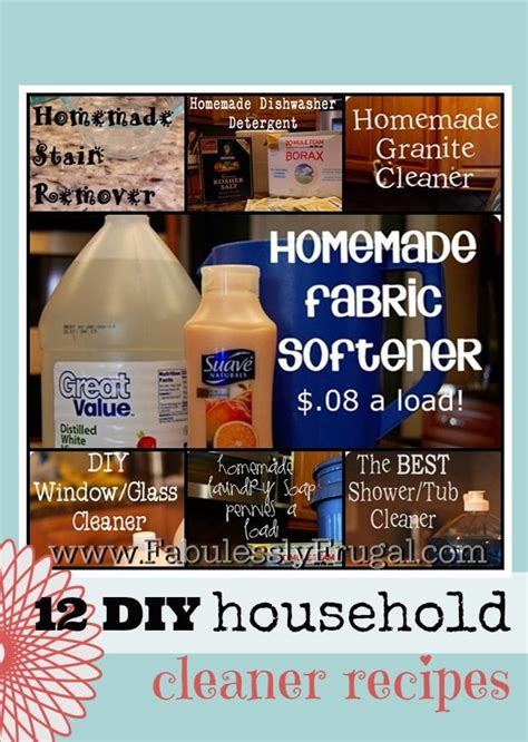 live on less diy household cleaner recipes stains